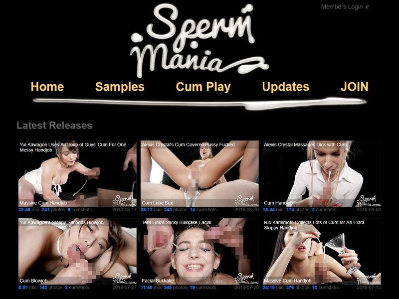 スペルママニア SpermMania スパームマニア ザーメン 精子 射精 無修正動画